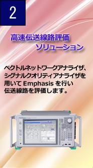 高速伝送線路評価ソリューション ベクトルネットワークアナライザ、シグナルクオリティアナライザを用いてEmphasisを行い伝送線路を評価します