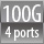 100G  4 ports