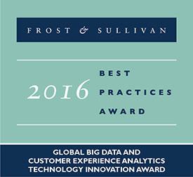 2016 Global Big Data and Customer Experience Analytics Technology Innovation Award
