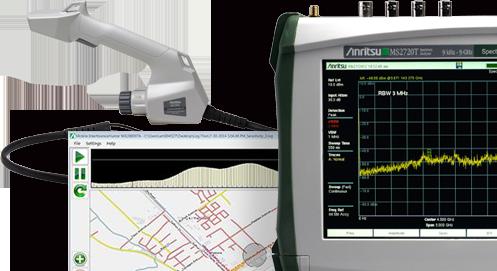 ディジタル通信関連測定器 妨害波探索