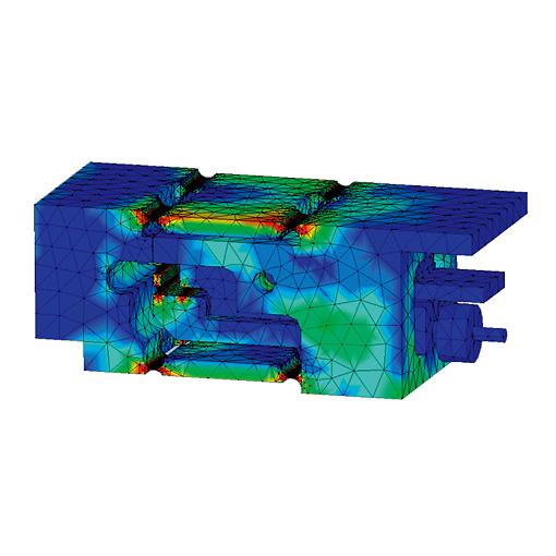 はかりの剛性シミュレーション - Hardness simulation using CAD