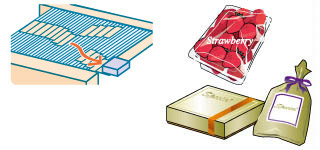 NG products are sorted horizontally without any shock